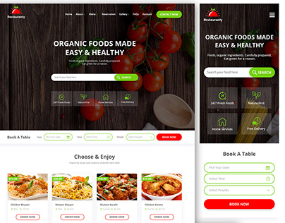 Restauranty Website UI Design