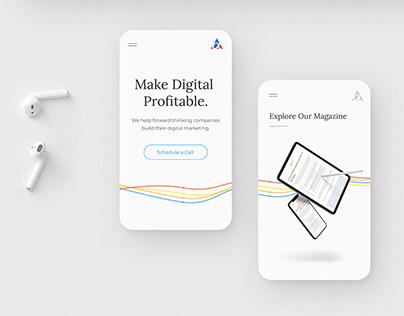 Alpha Efficiency - Digital agency website branding