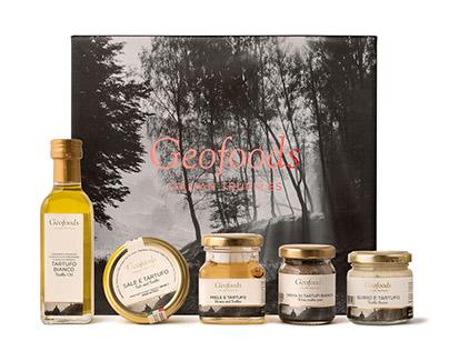 Concept e layout Truffle Box Geofoods Italian Truffles