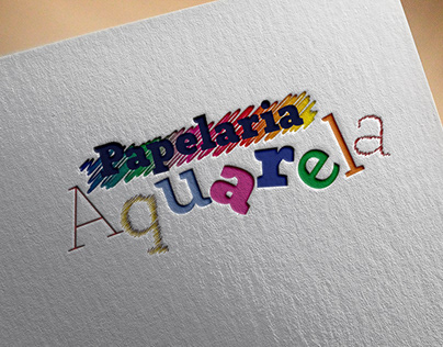 Logo - Papelaria Aquarela