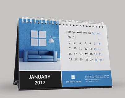 Corporate Desk Calendar 2017