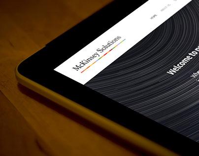 McKinsey Solutions - Responsive website