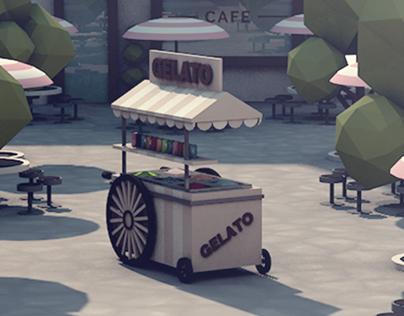 Low Poly City Cinema 4D 3D Model 2017