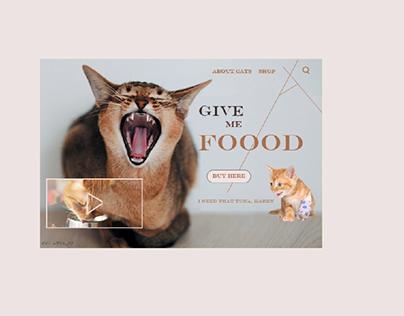 Give me food - website UI landing page