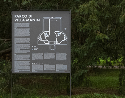 VILLA MANIN – SEGNALETICA PARCO