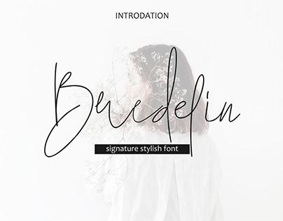 Bredelin-seignature font
