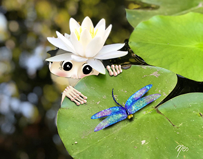 Daily Hidden Buddy,Lotus Fairy meets with Dragonfly
