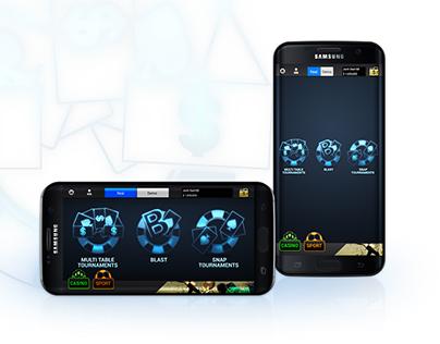 Mobile poker application