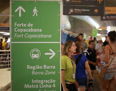 SINALIZAÇÃO - Rio 2016 Signage System.