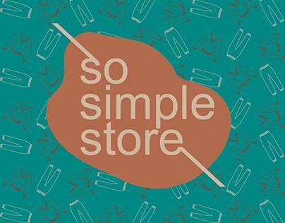 Айдентика для So simple store