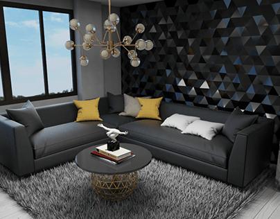 LIVING ROOM -PENTHOUSE -Fendi inspiration