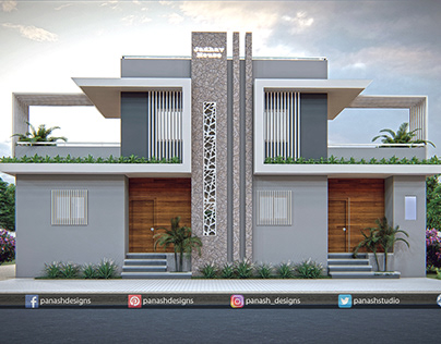 Modern House Design   Two Storey House   Twin House