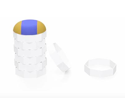 Octastool - paper furniture