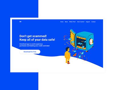 Landing Page for Data Safety App | Web Design for App