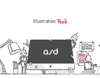 ASD. Illustration pack