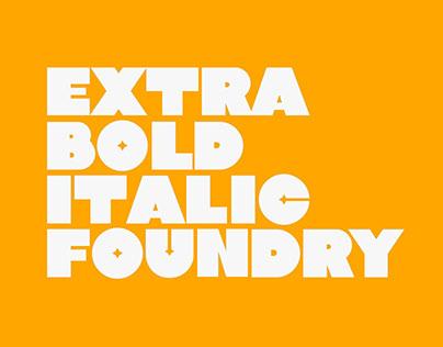 Extra Bold Italic Type Foundry