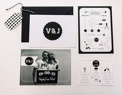 V+J Wedding Stationary