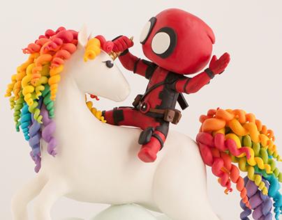 Deadpool Unicorn Cake for ComiCake Collaboration