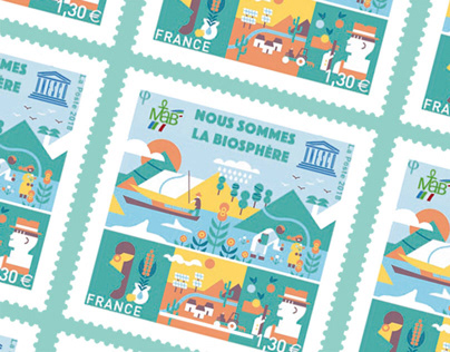 UNESCO / OFFICIAL STAMP / France 2018