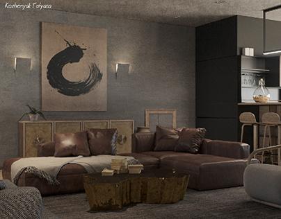 Ethnic livingroom in Kiev
