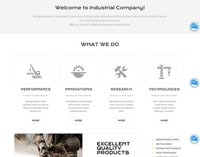 Industrial Services Modern Elementor WordPress Website