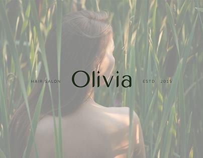 Логотип для салона Olivia   Logo for hair salon