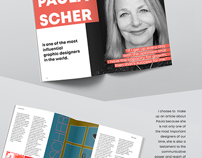 Magazine Article | Layout | Paula Scher