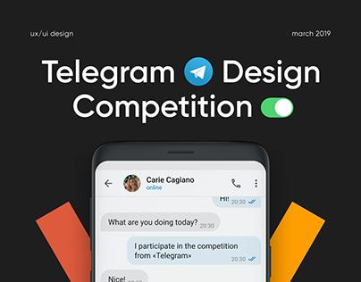 Telegram Design Competition UX/UI Concept