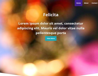 Felicita Holiday Web Design Idea