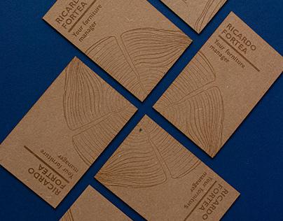 Business cards of an interior designer