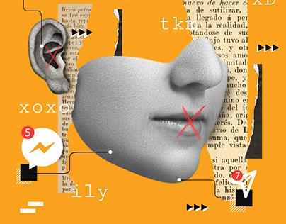 Dialogos Sordos | ilustracion para Tec Review Expansion