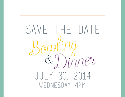Bowling + Dinner Invitation Concepts