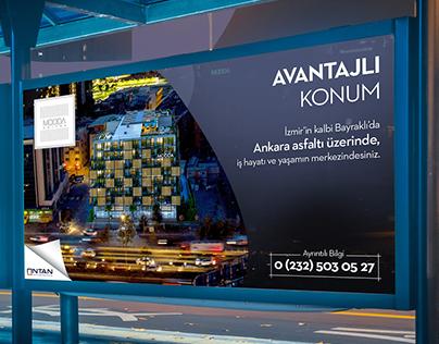 Modda Suites Billboard Ads Design