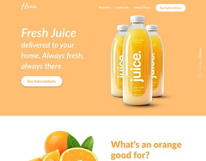 Hjuice. Fresh Juice Delivery Service