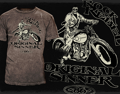 Rock Rebel - Graphics for T-shirts