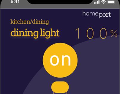 HomePort: light dimmer concept