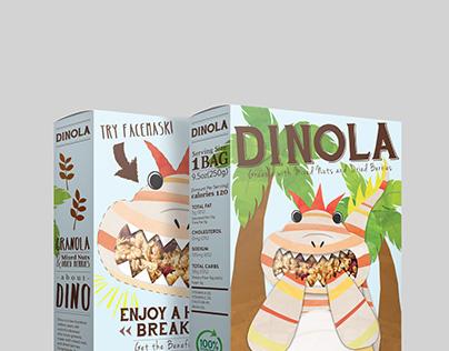 Cereal Box Design - DINOLA