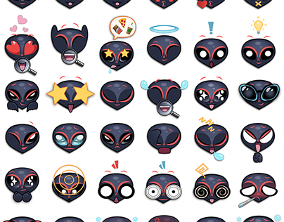 Upi (An Alien) Stickers/ Emoji Set