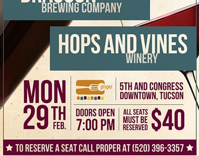 Beer Vs Wine Poster