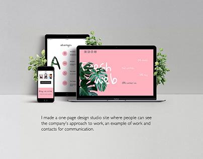Landing page design studio