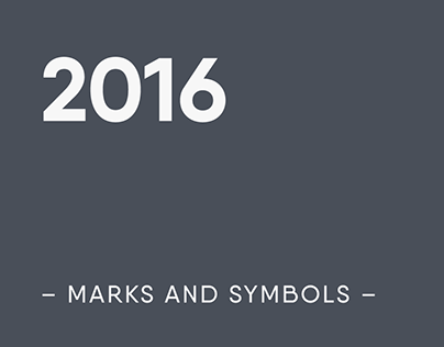 Marks and symbols collection - 2016