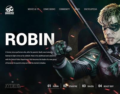 UI/UX Concept for DC Universe Web page