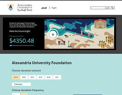 Alexandria University website redesign