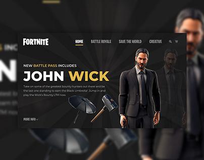 Fortnite Website Concept