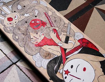 SAMURAY GIRL SKATEBOARD