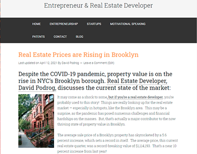 Real Estate Prices are Rising in Brooklyn