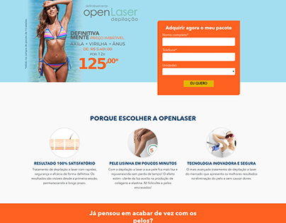 Landing Page OpenLaser