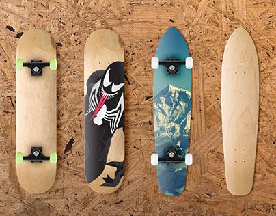 Skateboard Mockup Free Download