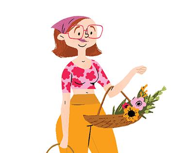 plant girl summer