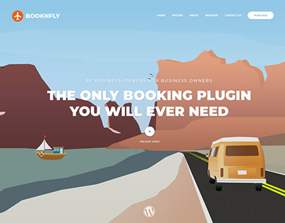 Concept Homepage for WordPress Plugin